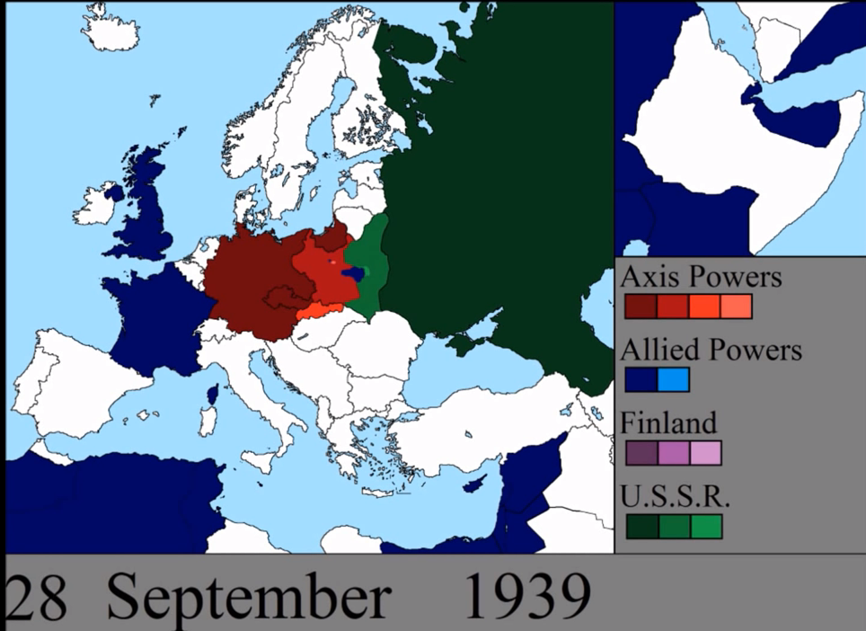 World War II Time-lapse map