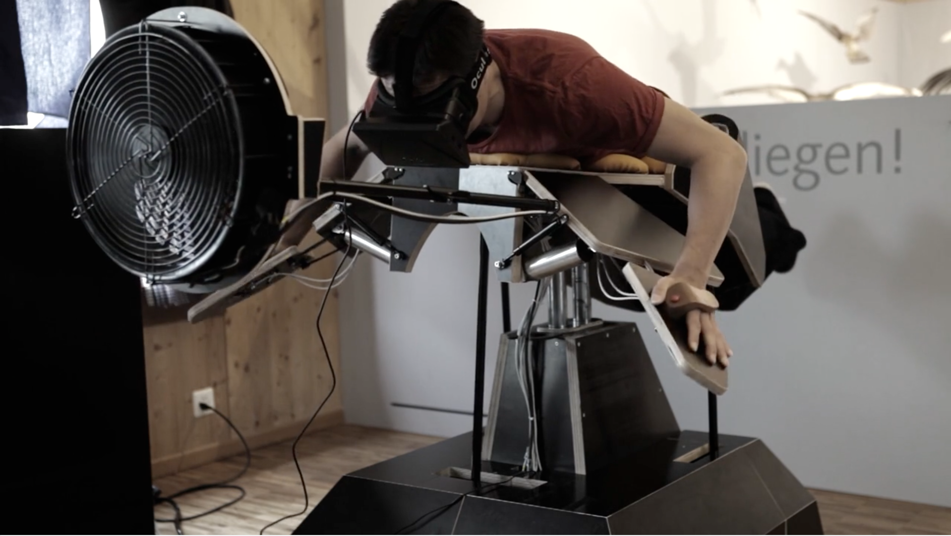 Birdly: Taking flight with Oculus Rift